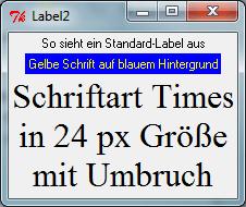 Tk::Label - Text auf Perl/Tk-GUI darstellen